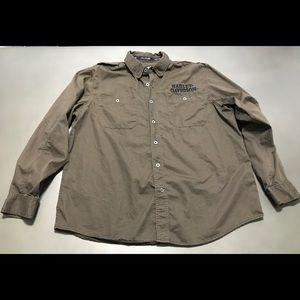 Men's Harley-Davidson Brown Shirt Size 2XL